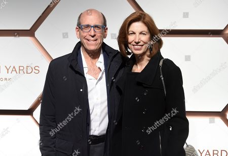 Matt Blank, Susan McGuirk. Matt Blank, left, and wife Susan McGuirk attend the grand opening of the Shops & Restaurants at Hudson Yards, in New York