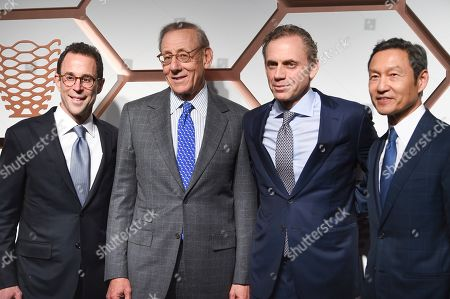 Stock Picture of Jeff T. Blau, Stephen Ross, Bruce Beal Jr, Ken Wong. Related Companies CEO Jeff T. Blau, left, chairman Stephen Ross, President Bruce Beal, Jr., and CFO Ken Wong attend the grand opening of the Shops & Restaurants at Hudson Yards, in New York