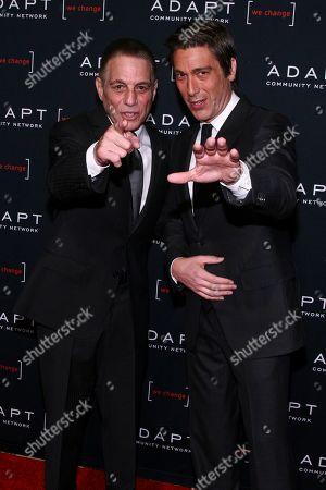 Tony Danza, David Muir. Tony Danza, left, and David Muir, right, attend the 2019 ADAPT Leadership Awards at Cipriani 42nd Street, in New York