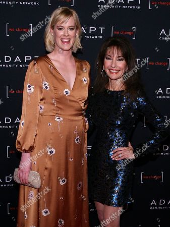Stock Photo of Abigail Hawk, Susan Lucci. Abigail Hawk, left, and Susan Lucci, right, attend the 2019 ADAPT Leadership Awards at Cipriani 42nd Street, in New York
