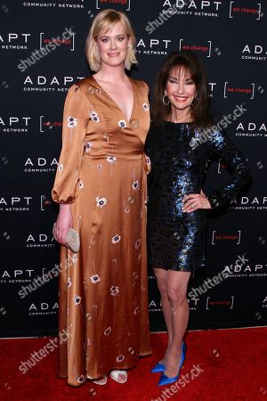 Stock Image of Abigail Hawk, Susan Lucci. Abigail Hawk, left, and Susan Lucci, right, attend the 2019 ADAPT Leadership Awards at Cipriani 42nd Street, in New York