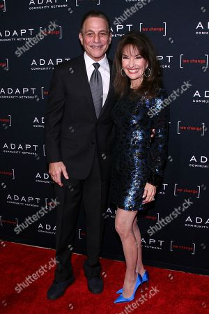 Tony Danza, Susan Lucci. Tony Danza, left, and Susan Lucci, right, attend the 2019 ADAPT Leadership Awards at Cipriani 42nd Street, in New York