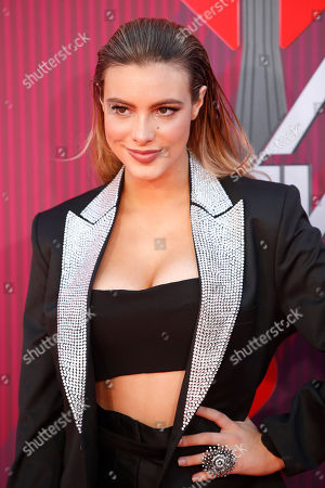 Lele Pons poses for the photographers as she arrives for the 2019 iHeartRadio Music Awards at the Microsoft Theater in Los Angeles, California, USA, 14 March 2019. The iHeartRadio Music Awards celebrates the most-played artists and songs on iHeartRadio stations and the iHeartRadio app throughout the previous year.