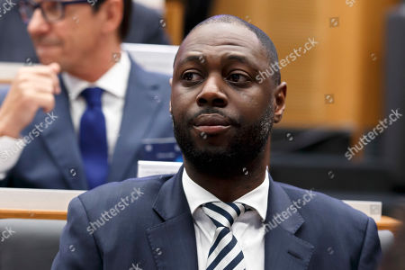 Ledley King, Ambassador of Tottenham Hotspur, attends the drawing of the soccer matches for the UEFA Champions League 2018/19 quarter-finals at the UEFA headquarters in Nyon, Switzerland, 15 March 2019.