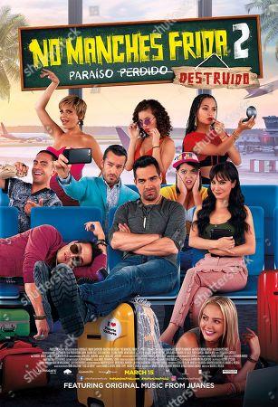 No Manches Frida 2 (2019) Poster Art. Itati Cantoral, Carla Adell as Laura, Karen Furlong as Nayeli, Aaron Diaz as Mario, Omar Chaparro as Zequi, Martha Higareda as Lucy and Regina Pavon as Monica