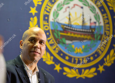 Democratic candidate for United States Presidency Cory Booker addresses voters at a campaign stop in Lebanon, New Hampshire, USA, 15 March 2019. Senator Booker is on a campaign tour of New Hampshire while pursing the Democratic nomination for United States President in the 2020 national election.