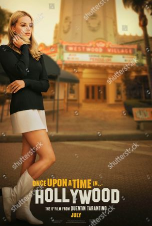 Once Upon a Time in Hollywood (2019) Poster Art. Margot Robbie as Sharon Tate