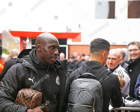Mohamed Diame of Newcastle United arrives