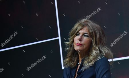 Eni chairman Emma Marcegaglia attends a press conference during the 2019-22 ENI strategy presentation in San Donato Milanese, Milan, Italy, 15 March 2019. Eni is an Italian multinational oil and gas company.