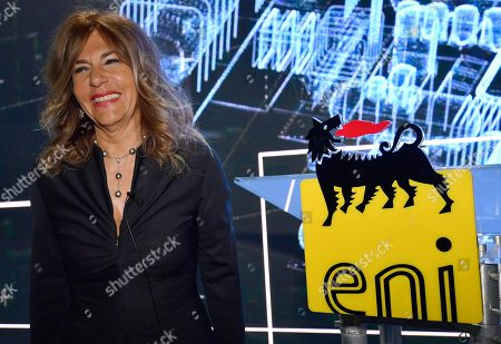 Eni chairman Emma Marcegaglia smiles as she poses for photographers prior to the start of the press conference during the 2019-22 ENI strategy presentation in San Donato Milanese, Milan, Italy, 15 March 2019. Eni is an Italian multinational oil and gas company.