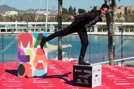 Argentine actor and cast member Joaquin Furriel poses during the presentation of the movie 'Taxi a Gibraltar' (Taxi to Gibraltar) at the Malaga Film Festival, in Malaga, Spain, 15 March 2019. The film festival runs place from 15 to 24 March.