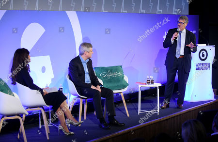 Kathleen Saxton (CEO & Founder, The Lighthouse Company), Mark Read (CEO, WPP) and Matt Scheckner (Founder of Stillwell Partners and Global CEO of Advertising Week)