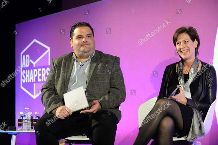 Stock Photo of Paul Samuels (EVP, Global Partnerships, AEG) and Nina Bibby (Chief Marketing Officer, O2 UK)