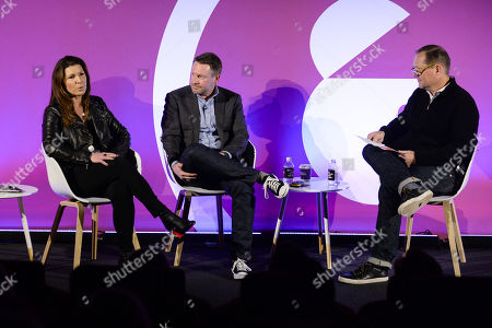 Stock Image of Jill Kramer (Managing Director - Advertising, Accenture), Mike Fox (CMO, Culture Trip) and Jason Fairchild (Co-Founder, OpenX)