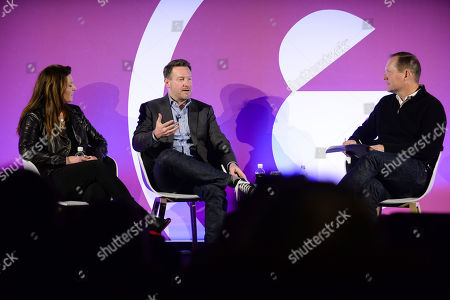 Stock Photo of Jill Kramer (Managing Director - Advertising, Accenture), Mike Fox (CMO, Culture Trip) and Jason Fairchild (Co-Founder, OpenX)