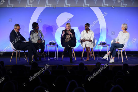 Paul Hayward (Chief Sports Writer, The Telegraph), Maggie Alphonsi MBE (Rugby World Cup Winner, England Rugby), Dina Asher-Smith (British Athletics) and Judy Murray (Judy Murray Foundation)