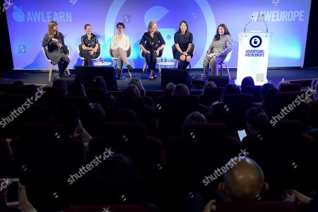 Clare Chapman (Head of Media Planning, EMEA, Essence), Anna Watkins (Managing Director, Verizon Media) and Sue Unerman (Chief Transformation Officer, MediaCom), Fiona McKinnon (General Manager, T.1 & The Pangaea Alliance), Carol Chung (Reed SVP Global Buyer Development, OpenX) and Coco Khan (Journalist and Commissioning Editor, The Guardian)