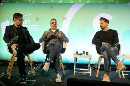 John McCarthy (Reporter at The Drum), Adam Harris (Director of Custom Solutions Europe, Twitch) and Eric Serra (Head of Digital Channels, FC Barcelona)