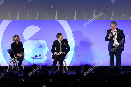 Edie Lush (Co-Host, Global Goalscast, Author, Communications Trainer, Executive Editor, Hub Culture), Tristram Hunt (Director, The Victoria and Albert Museum) and Matt Scheckner (Founder of Stillwell Partners and Global CEO of Advertising Week)