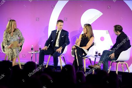 Stock Photo of Natasha Murray (Head of client partnerships, The Guardian), Andrew Mortimer (Director of Client Strategy, Sky), Claire Hilton (Managing Director, Global Brand and Insight, Barclays) and Mike Florence (Chief Strategy Officer, PHD)