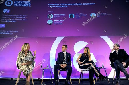 Natasha Murray (Head of client partnerships, The Guardian), Andrew Mortimer (Director of Client Strategy, Sky), Claire Hilton (Managing Director, Global Brand and Insight, Barclays) and Mike Florence (Chief Strategy Officer, PHD)