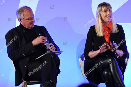 Stock Image of Paul Polman (Chief Executive Office of Unilever) (Chief Executive Office of Unilever) (Chief Executive Office of Unilever) (Chief Executive Office of Unilever) (Former CEO, Unilever), Caroline Casey (Founder, Valuable)