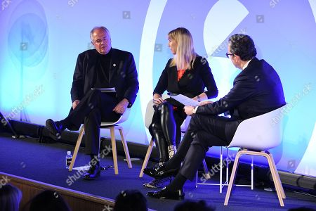 Stock Photo of Paul Polman (Chief Executive Office of Unilever) (Chief Executive Office of Unilever) (Chief Executive Office of Unilever) (Chief Executive Office of Unilever) (Former CEO, Unilever), Caroline Casey (Founder, Valuable), Michael Hayman (Co-founder, Seven Hills)