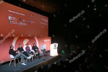 Hamish Nicklin (CRO, Guardian News & Media), Clare Lawson (Chief Customer Officer of Ogilvy), Anna Watkins (Managing Director, Verizon Media), Cristina Constandache (CRO, Rakuten Viber) and Giles Hall (Business Director, UK, Axciom)