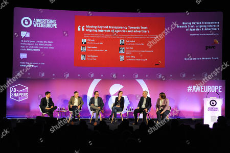 Editorial photo of Moving Beyond Transparency Towards Trust: Aligning Interests of Agencies & Advertisers, Ad Shapers Stage, Advertising Week Europe, Picturehouse Central, London, UK - 20 Mar 2019