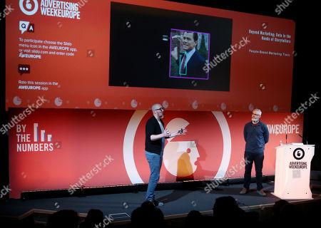 Stock Picture of Liam Walsh (Creative Technology Director, Nexus Studios) and Colin Davis (Executive Producer, Nexus Studios)