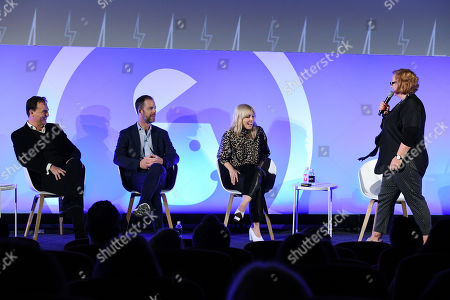 Stock Picture of The CMO Panel - Julian Diment, Ottokar Rosenberger (CMO, Web Reservations International), Kerry Taylor and Sherilyn Shackell (Founder & CEO, The Marketing Academy)