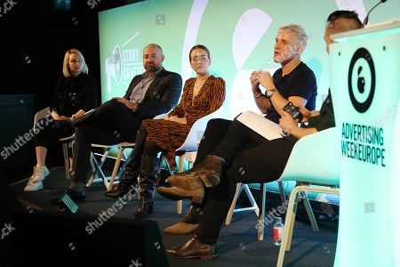 Sophie Herdman (UK Content Director, Acast), Jorma Kremser (Global Media Manager, BOSE), Lydia Bright (Podcaster, The Brights), Jamie Laing (Podcaster, Private Parts), Joe Copeman (UK Country Manager, Acast)