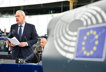 Editorial picture of Plenary Session, European Parliament, Strasbourg, France - 14 Mar 2019