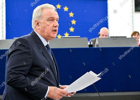 Editorial image of Plenary Session, European Parliament, Strasbourg, France - 14 Mar 2019