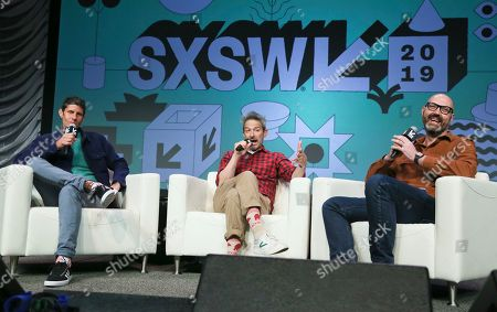 Nathan Brackett, Michael Diamond, Adam Horovitz. Amazon Music's Nathan Brackett, right, moderates a keynote with The Beastie Boys' Michael Diamond, left, and Adam Horovitz at the Austin Convention Center during the South by Southwest Music Festival, in Austin, Texas