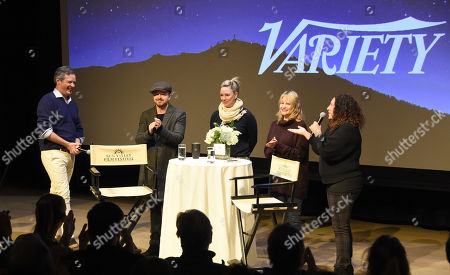 Editorial picture of 2019 Sun Valley Film Festival Pioneer Award given to Aaron Paul, 'Coffee Talk', Sun Valley, USA - 15 Mar 2019
