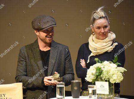Editorial image of 2019 Sun Valley Film Festival Pioneer Award given to Aaron Paul, 'Coffee Talk', Sun Valley, USA - 15 Mar 2019