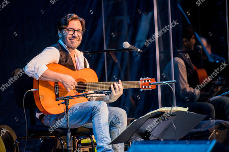 Al Di Meola performs in concert during his 'Opus Tour' at the Kodaly Centre in Pecs, 196 kilometers south of Budapest, Hungary, 15 March 2019.