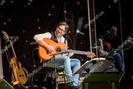Stock Picture of Al Di Meola performs in concert during his 'Opus Tour' at the Kodaly Centre in Pecs, 196 kilometers south of Budapest, Hungary, 15 March 2019.