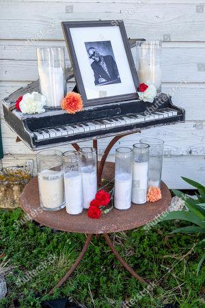 Stock Photo of A shrine to Sammy Davis Jr.