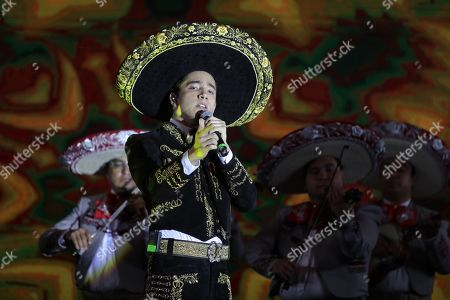 Alex Fernandez performs during a Show Case for the presentation of his debut album 'Sigue la Dinastia' in Mexico City, Mexico, 15 March 2019. Alex, 25, son and grandson of Mexican singers Alejandro and Vicente Fernandez, respectively, made his debut as a singer a few months ago with the single 'Te Amare', a song included in his new production.