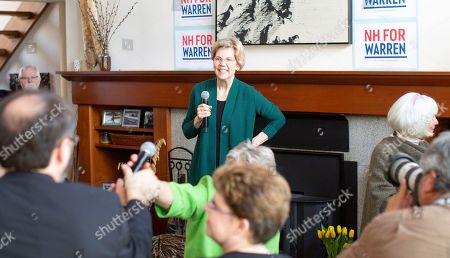 Democratic candidate for United States President Elizabeth Warren takes a question following her address to a group of voters at the home of Jim and Liz Smith, during a campaign stop in Salem, New Hampshire, USA, 15 March 2019.
