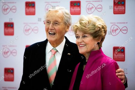 Nicholas Parsons and wife