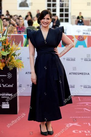 Stock Image of Prakriti Maduro arrives for the opening gala of the Malaga Film Festival, at the Cervantes Theatre in Malaga, Spain, 15 March 2019. The film festival runs from 15 to 24 March.