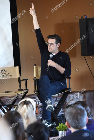 Stock Image of Phil Johnston attends the 2019 Sun Valley Film Festival Screenwriter's Lab presented by Variety, held at the Tito's Loft in Sun Valley, ID