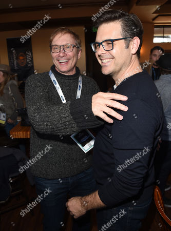 Stock Image of Phil Johnston and Producer Jim Burke attends the 2019 Sun Valley Film Festival Screenwriter's Lab presented by Variety, held at the Tito's Loft in Sun Valley, ID