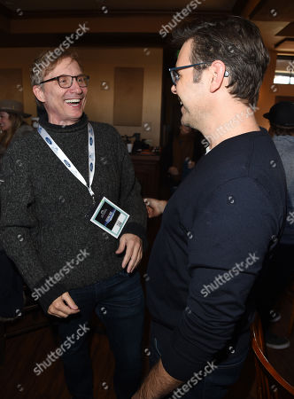 Stock Photo of Phil Johnston and Producer Jim Burke attends the 2019 Sun Valley Film Festival Screenwriter's Lab presented by Variety, held at the Tito's Loft in Sun Valley, ID