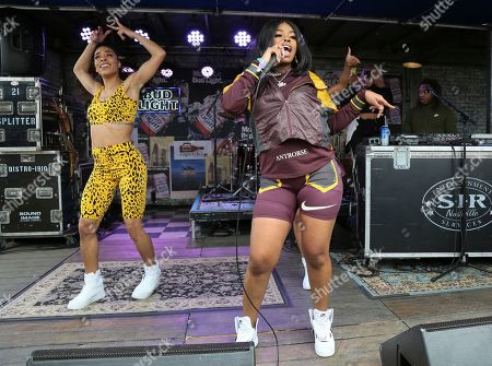 Dreezy performs at Bud Light Dive Bar during the South by Southwest Music Festival, in Austin, Texas