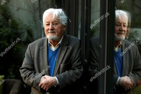 Stock Picture of French anthropologist Marc Auge poses during an interview with Spanish international news agency EFE on the occasion of the presentation of his book 'Small Happinesses' in Barcelona, northeastern Spain, 16 March 2019.
