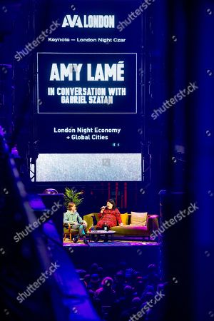 Stock Picture of AVA London 2019 at Printworks - Amy Lame (London Night Tzar), Seamas O'Reilly